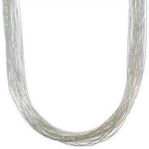 Navajo Jewelry - Navajo Liquid Sterling Silver necklace